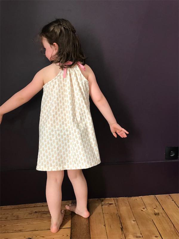 Colette couture création fille en robe