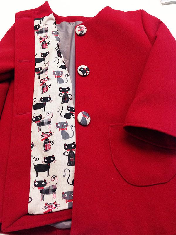 Colette couture création manteau enfant