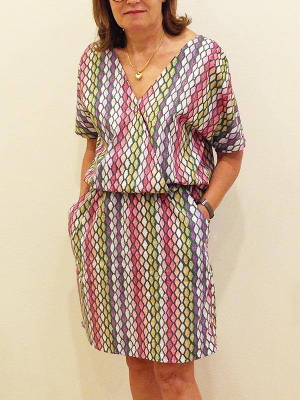 Colette couture création robe croisée
